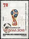 Macedonia new post stamp FIFA World Cup Russia 2018